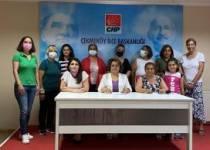 CHP'Lİ KADINLAR MÜCADELEYİ SÜRDÜRÜYOR..