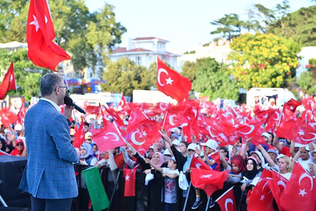 15 TEMMUZ ŞEHİTLER ANITI AÇILIŞINA YOĞUN KATILIM..