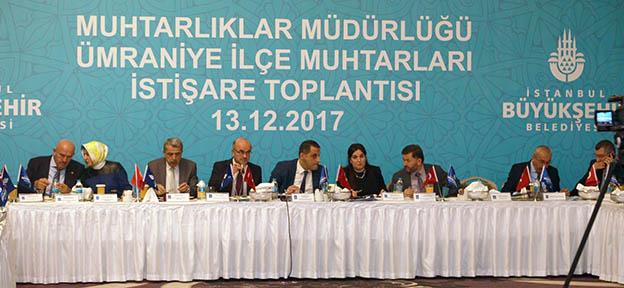 MUHTARLAR İSTİŞARE İÇİN ÜMRANİYE'DE TOPLANDI..