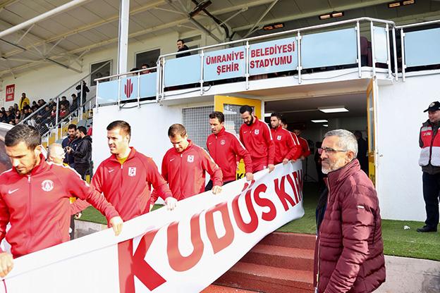 ÜMRANİYESPOR'DAN ANLAMLI ÇIKIŞ..
