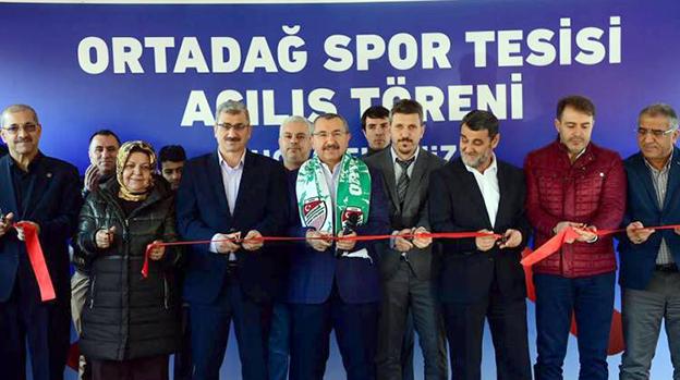 ORTADAĞ SPOR TESİSLERİ HİZMETE GİRDİ..