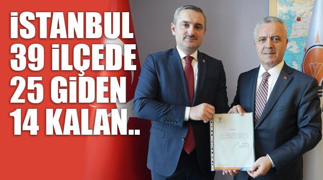 AK PARTİ İSTANBUL'DA BEKLENEN DEĞİŞİM GERÇEKLEŞİYOR..