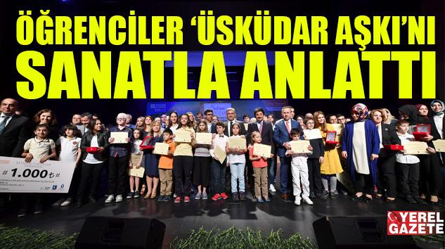 ÖĞRENCİLERİN 'ÜSKÜDAR AŞKI' SANAT OLDU..