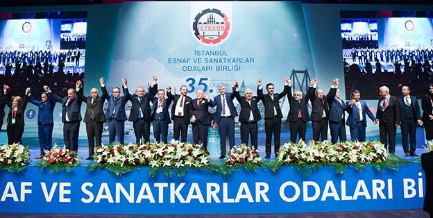 İSTANBUL ESNAFI BÜYÜK DESTEKLE YENİDEN FAİK YILMAZ'I SEÇTİ..