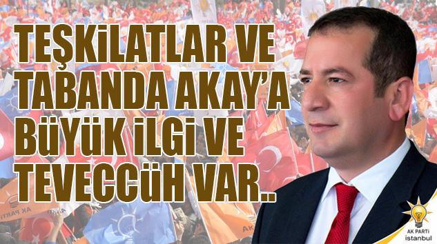 TEŞKİLATLAR VE TABANDA VEYSİ AKAY'A BÜYÜK İLGİ VE TEVECCÜH VAR..