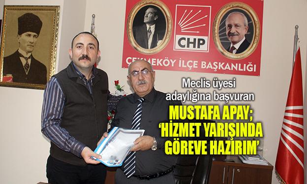 TECRÜBELİ GENÇ SİYASETÇİ MUSTAFA APAY 'BEN DE VARIM' DEDİ..