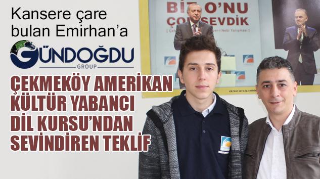 DÜNYAYA UMUT OLAN EMİRHAN'A DAHA VERİMLİ OLMA İMKANI..