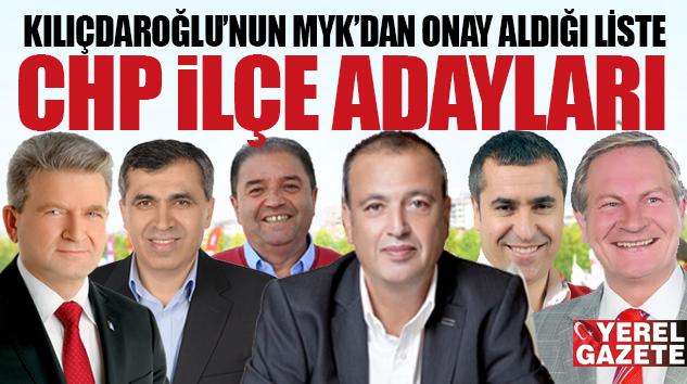MYK'DAN ONAY ALAN LİSTENİN PM'DEN DE GEÇMESİ BEKLENİYOR..