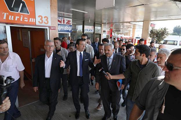 """HAREM'DE İNCELEMELER YAPAN İMAMOĞLU: """"BİZDE KADERİNE TERK ETMEK YOK!"""""""