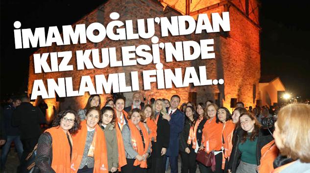 KADINA YÖNELİK ŞİDDETE KARŞI EYLEMİN FİNALİ KIZ KULESİ'NDE YAPILDI..