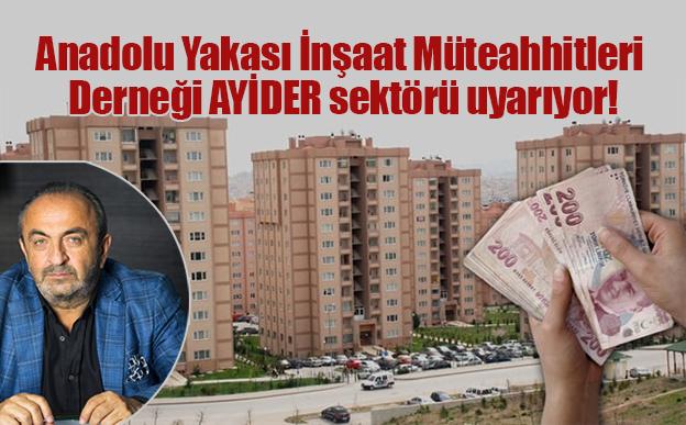 AYİDER'DEN MART AYI KONUT RAKAMLARI DEĞERLENDİRMESİ..