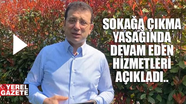 """İMAMOĞLU: """"İBB İSTANBUL'UN SU, EKMEK, ULAŞIM İHTİYAÇLARINI KARŞILIYOR.."""""""
