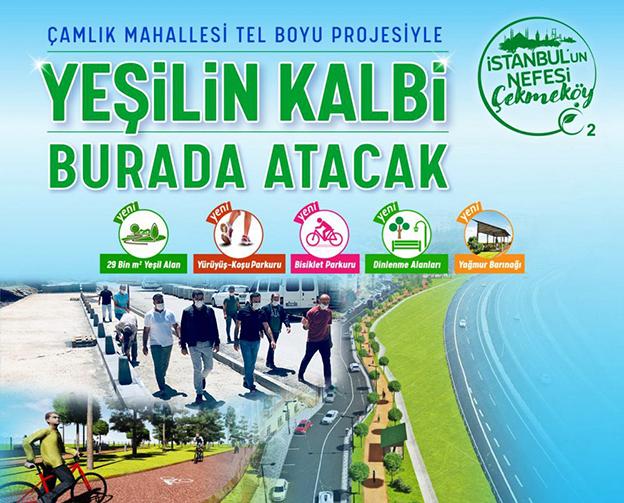 ÇAMLIK TELBOYU PROJESİ HIZLA TAMAMLANIYOR..