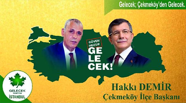 GELECEK PARTİSİ ÇEKMEKÖY'DE HAKKI DEMİR'LE..