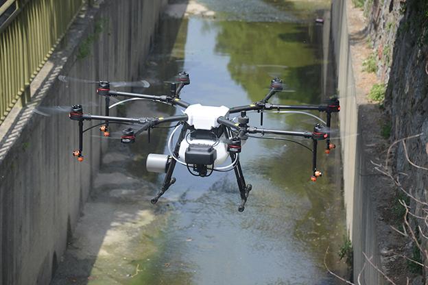 TUZLA'YA DRONLA HAVADAN İLAÇLAMA..