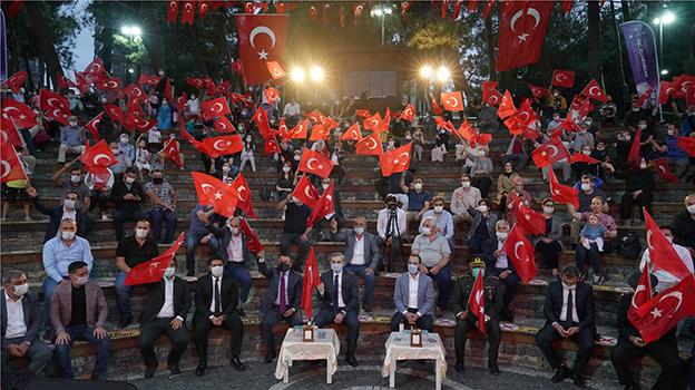 15 TEMMUZ ŞEHİTLERİ ÇEKMEKÖY'DE DUALARLA ANILDI..