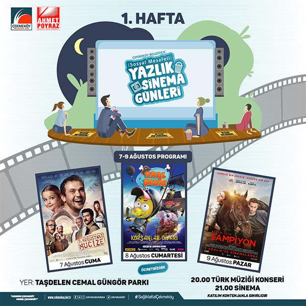 ÇEKMEKÖY'DE YAZLIK SİNEMA GÜNLERİ BAŞLIYOR..