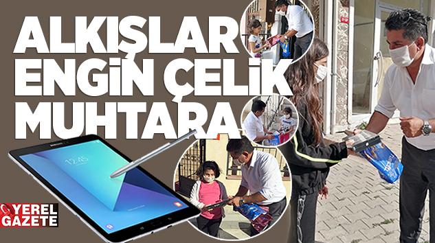 ÇOCUKLARIMIZ EĞİTİMDEN GERİ KALMASIN DİYE TABLET DESTEĞİ..