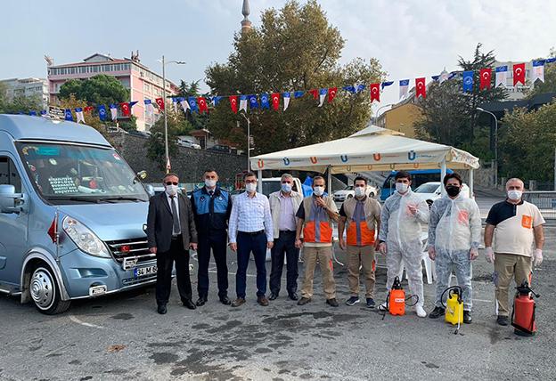 HAREM'DE TİCARİLERE DEZENFEKTASYON..