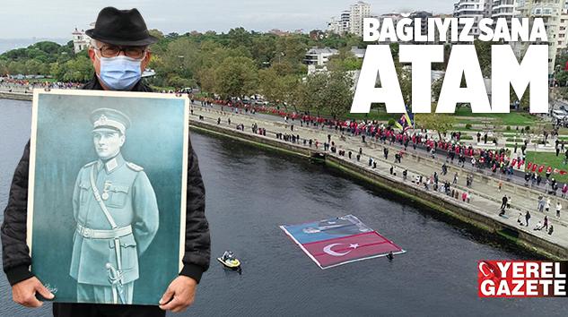 KADIKÖY'DE 9'U 5 GEÇE ATA'YA SAYGI ZİNCİRİ..