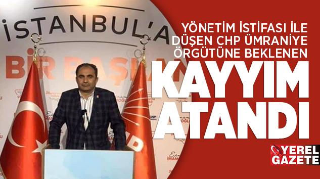 YENİ İLÇE BAŞKANI MUSTAFA ERCAN ÖZER..