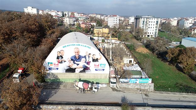ALEMDAĞ YÜZME HAVUZLU SPOR KOMPLEKSİ HIZLA YÜKSELİYOR..