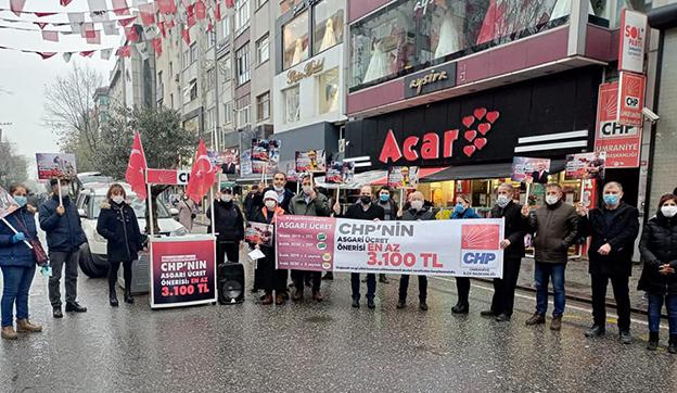 CHP ÜMRANİYE'DE ASGARİ ÜCRET ÇAĞRISINI SÜRDÜRDÜ..