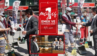 MUHTAR ENGİN ÇELİK'TEN ANLAMLI 1 MAYIS KUTLAMASI..
