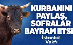 İSTANBUL'DA KURBAN BAĞIŞI KAMPANYASINA YOĞUN İLGİ..