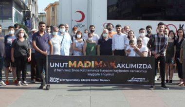 """""""CHP GENÇLİĞİ MADIMAK KATLİAMINI UNUTTURMAYACAK.."""""""