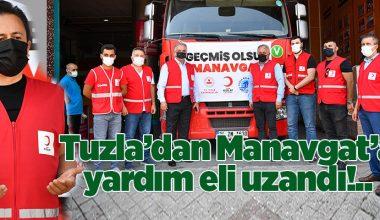 TUZLA'DAN MANAVGAT'A YARDIM TIRLARI VE SU TANKERLERİ..
