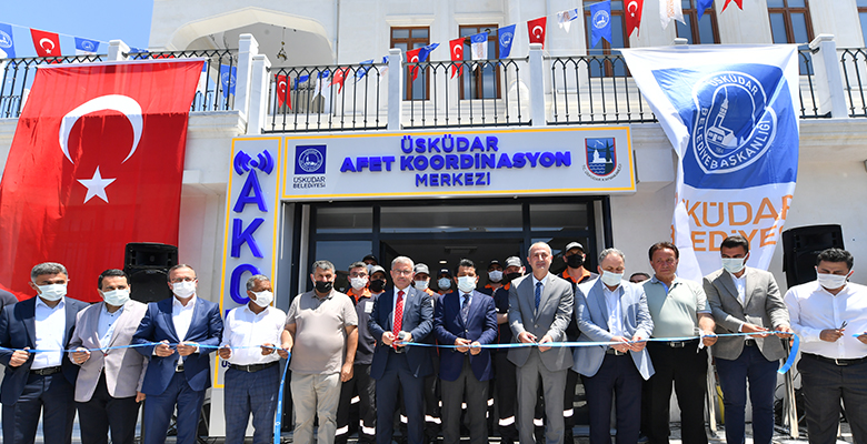 ÜSKÜDAR'DA AFET KOORDİNASYON MERKEZİ AÇILDI..