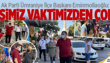 AK PARTİ ÜMRANİYE TEŞKİLATI, SAHA ÇALIŞMALARINDA HIZ KESMİYOR..