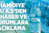 """""""HAMİDİYE, BAKANLIK ONAYLI KAYNAK SUYU SATIYOR.."""""""
