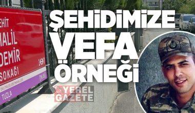 İDLİB ŞEHİDİ HALİL DEMİR'İN İSMİ TUZLA'DA YAŞAYACAK..