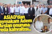 BAŞKAN YÜCEL YALÇINKAYA'DAN ARSLAN'A TEŞEKKÜR PLAKETİ..