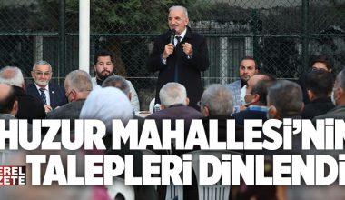 ÜMRANİYE'DE 'BAŞKANLA 5 ÇAYI' PROGRAMLARI DEVAM EDİYOR..