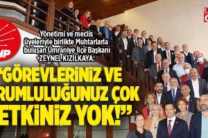 CHP ÜMRANİYE'DEN 19 EKİM MUHTARLAR GÜNÜ BULUŞMASI..