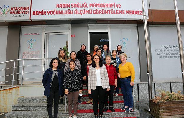 ATAŞEHİR'DE KADINLARA SAĞLIK TARAMASI..