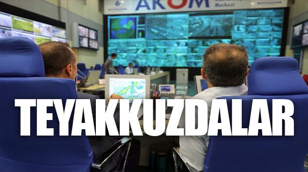 İBB, AKOM'DAN İSTANBUL'U 7/24 TAKİBE ALDI..